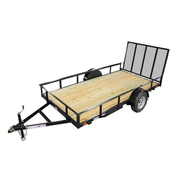 6 x 12 Utility Trailer with Drop Axle and Radial Tires