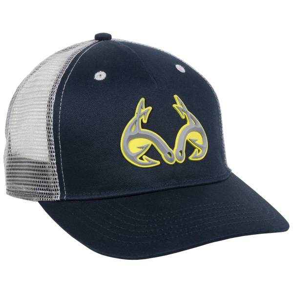 Navy & Gray Fishing Logo Cap