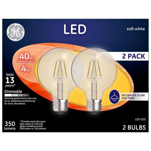 Soft White 4 W LED G25 2-Pack