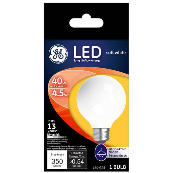 Soft White 4 W LED G25 Single Pack