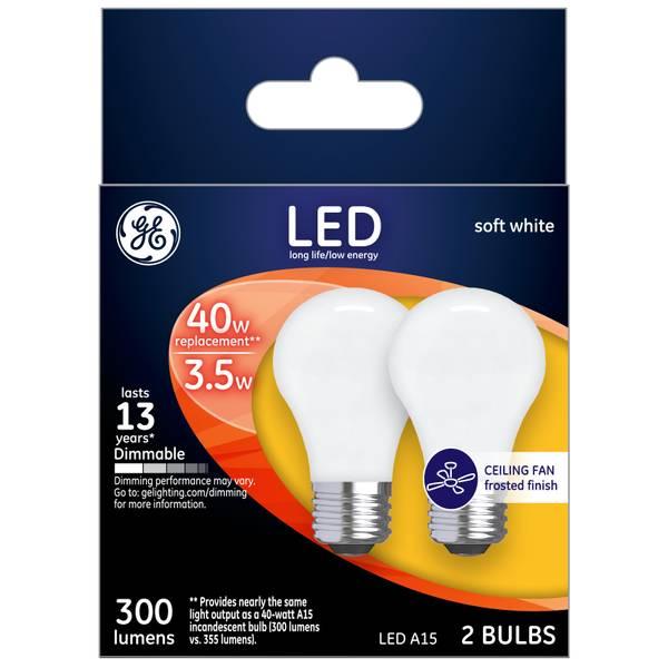 Soft White 4 W LED A15 2-Pack