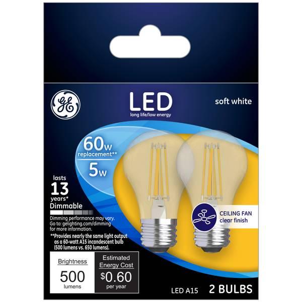 Soft White 5 W LED A15 2-Pack
