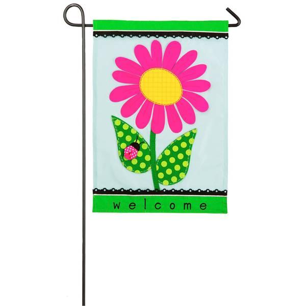 Welcome Daisy Garden Flag