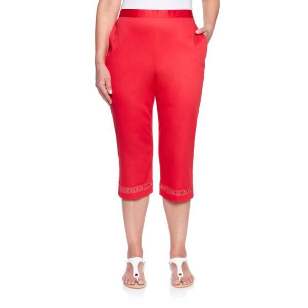 Women's  Lace Grommet Capri's