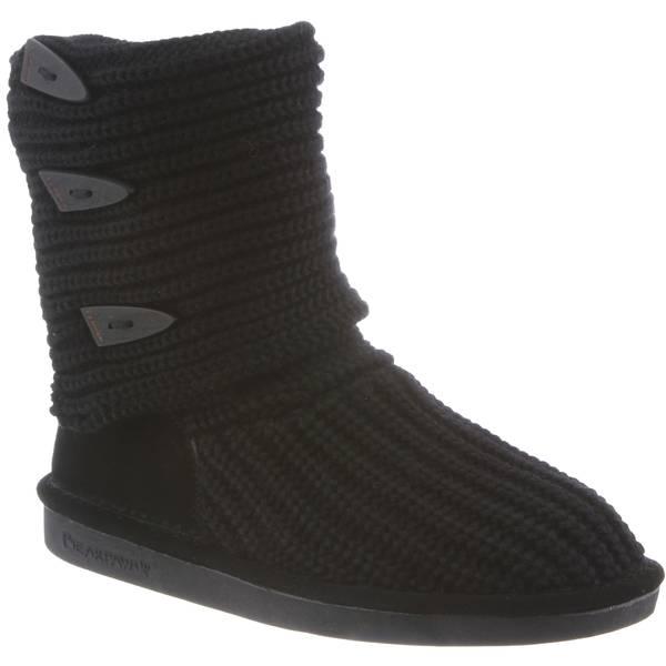 03fa1effb09 Bearpaw Women s Black Knit Tall Boots