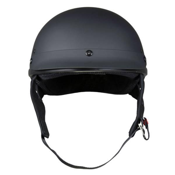 Adult Matte Black Low-Profile Half Helmet