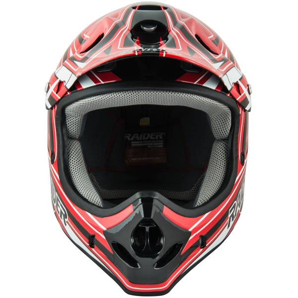 Youth Red & Black Graphic Printed MX Helmet