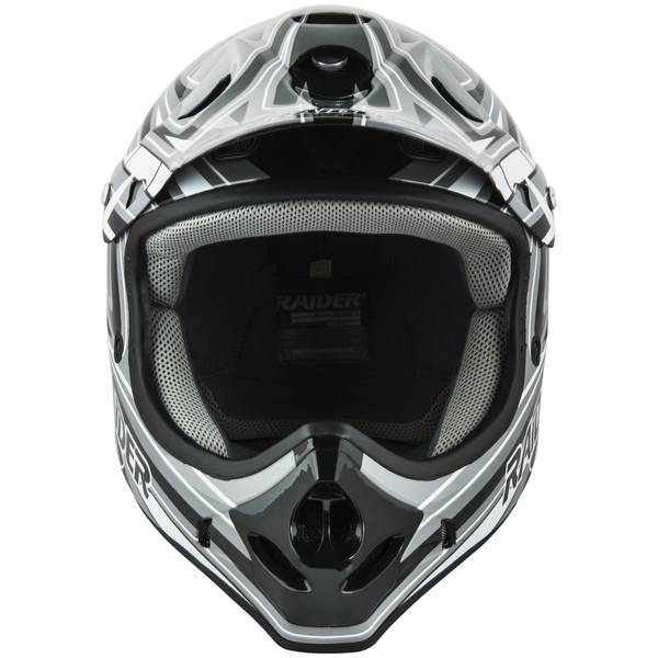 Adult Gray & Black Graphic Printed MX Helmet