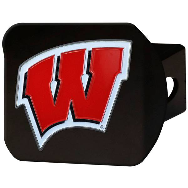 Wisconsin Badgers Black Hitch Cover