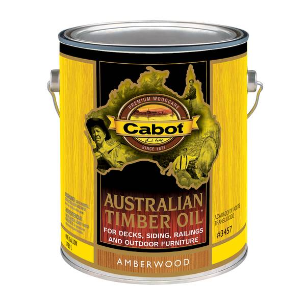 1 Gallon Amberwood Australian Timber Oil Based Outdoor Stain