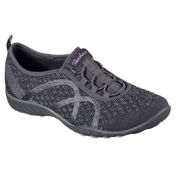 Women's Charcoal Breathe Easy Fortune Knit Shoes
