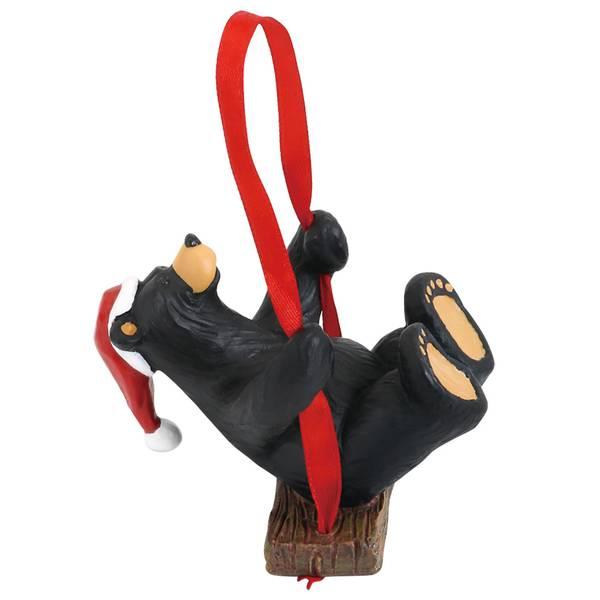 Santa Bear Swing Ornament