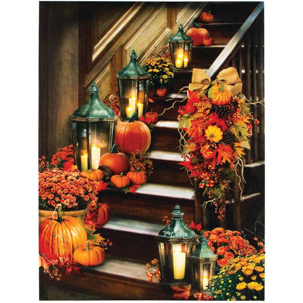 """24"""" x 18"""" Harvest Stairway LED Canvas"""