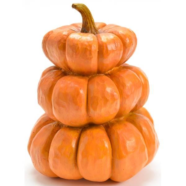 Pumpkin x3 Polyresin