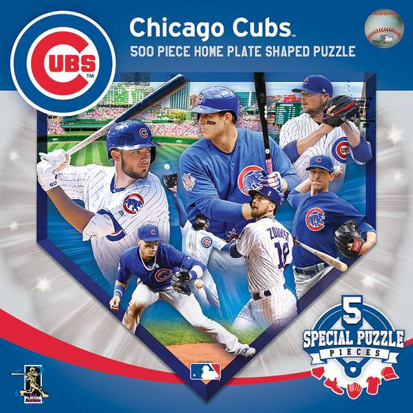 500-Piece Chicago Cubs Home Plate Puzzle