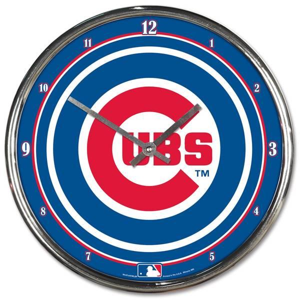 Chicago Cubs Chrome Clock
