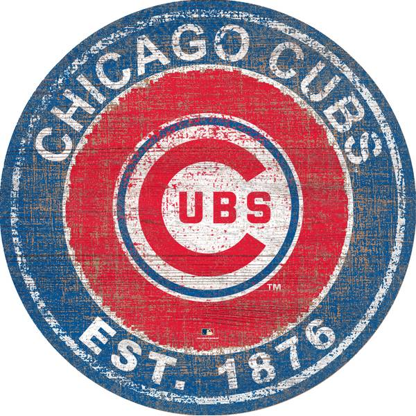 Mlb Chicago Cubs Heritage Logo Round Sign