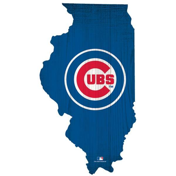 Mlb Chicago Cubs Team Color Logo State Sign