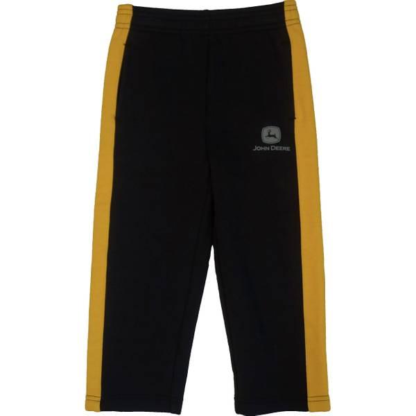 John Deere Toddler Boys Black Amp Yellow Fleece Stripe Pants