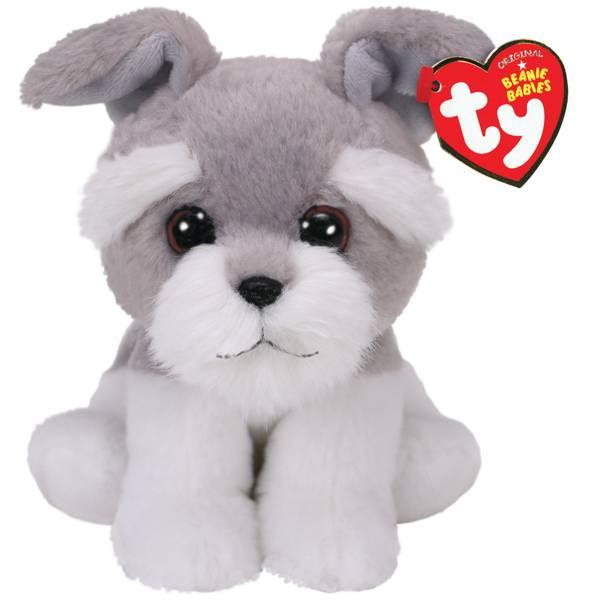 Beanie Baby - Grey Dog