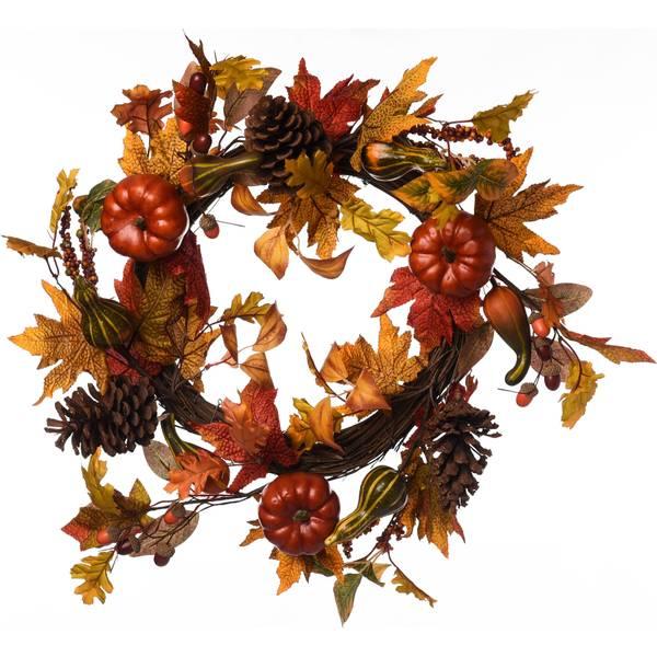 Pumpking & Gourd Wreath