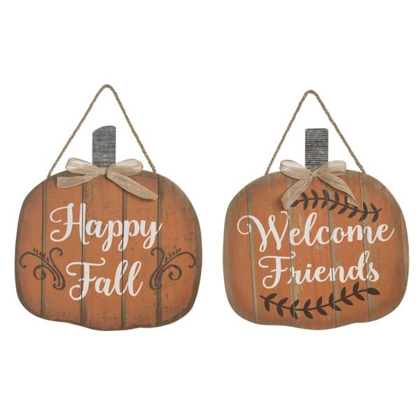 Wood Pumpkin Wall Art Assortment
