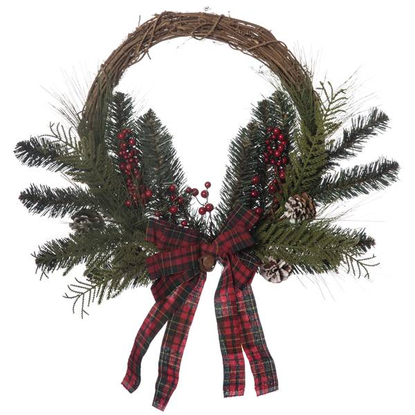"22"" Vine and Greens Wreath"