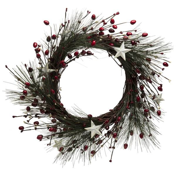 "20"" Vine, Berry, Star Wreath"