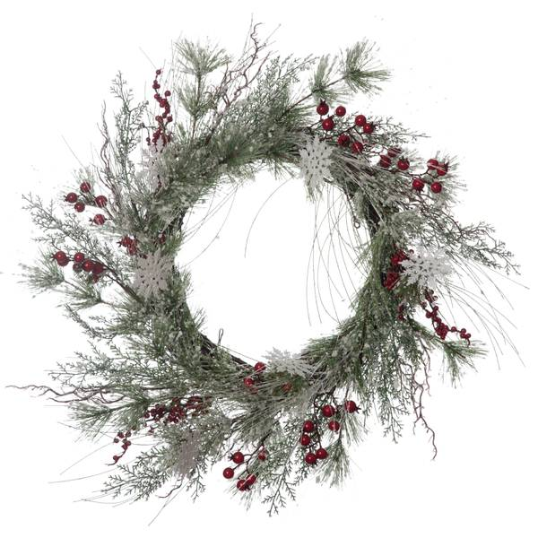 Berry and Snowflake Wreath