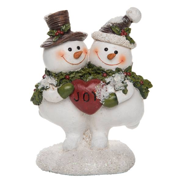 Resin Snowman Pair Figure