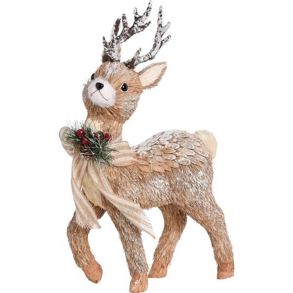 Sisal Reindeer Figure