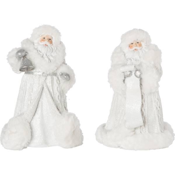 Resin Knit Elegant Santa Figure
