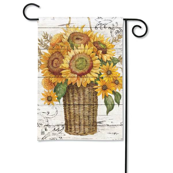 "18"" x 12.5"" Farmhouse Sunflower Garden Flag"