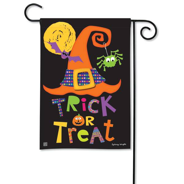 "18"" x 12.5"" Witches Halloween Garden Flag"