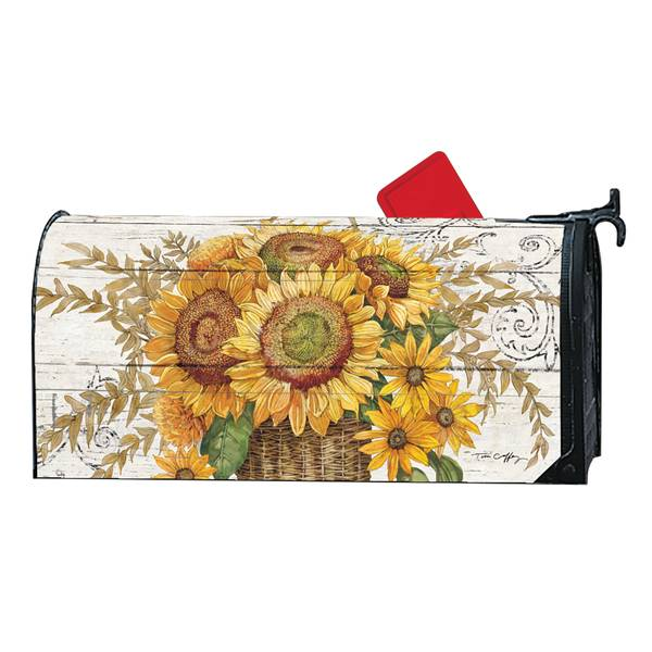 "18"" x 6.5"" Farmhouse Sunflower MailWrap"