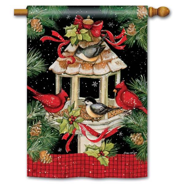 """40"""" x 28"""" Christmas Dinner House Flag"""