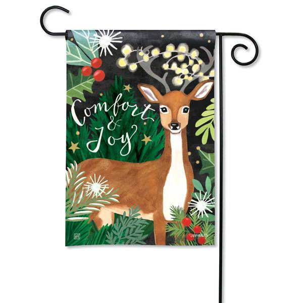 "18"" x 12.5"" Comfort and Joy Garden Flag"