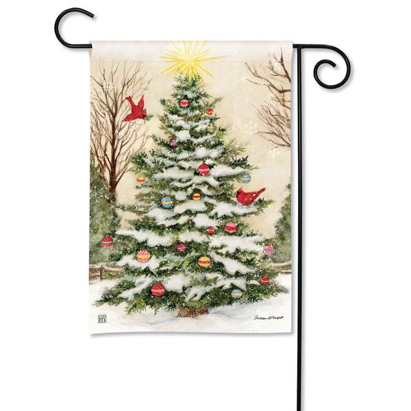 "18"" x 12.5"" Decorate the Tree Garden Flag"