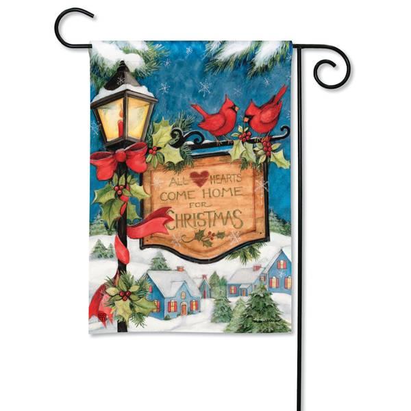 "18"" x 12.5"" Hometown Christmas Garden Flag"