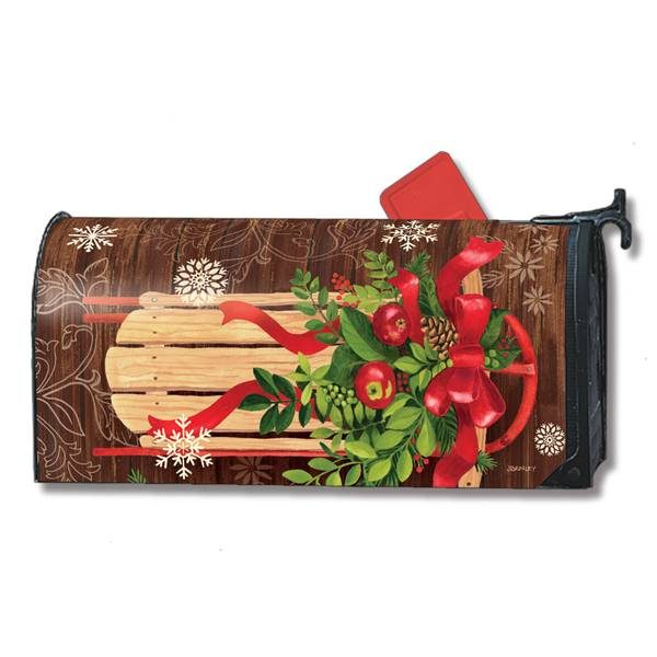 "18"" x 6.5"" Mountain Cabin Sled MailWrap"