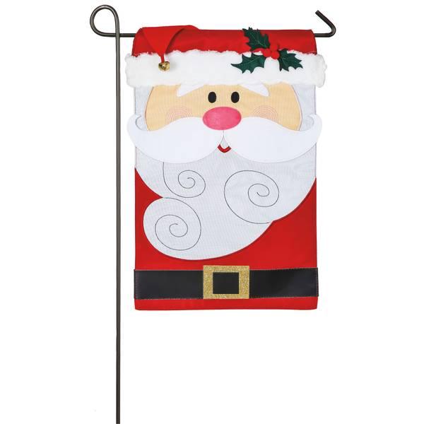 """18"""" x 12.5"""" Santa Claus Garden Flag"""
