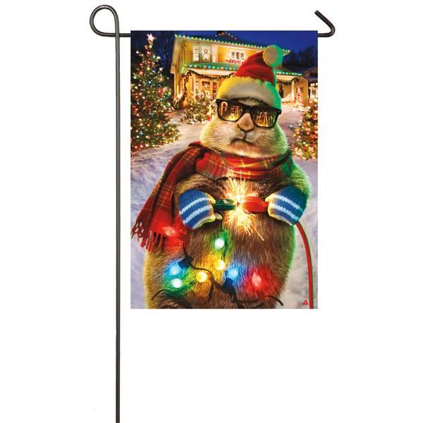 "18"" x 12.5"" Christmas Lights Garden Flag"