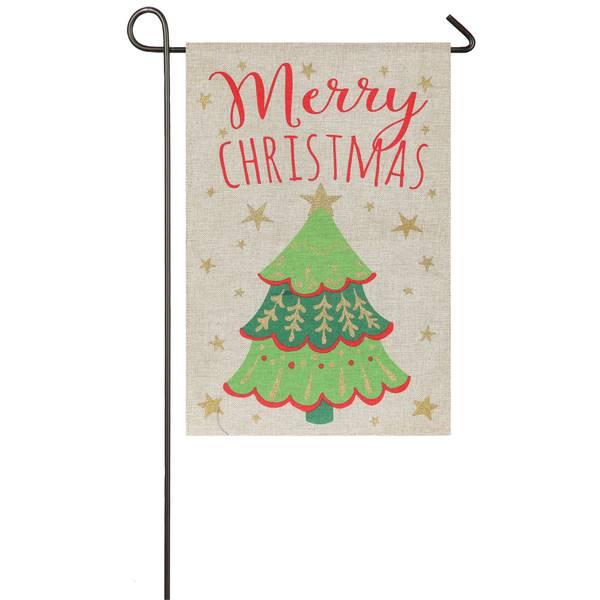 "18"" x 12.5"" Merry Christmas Garden Flag"