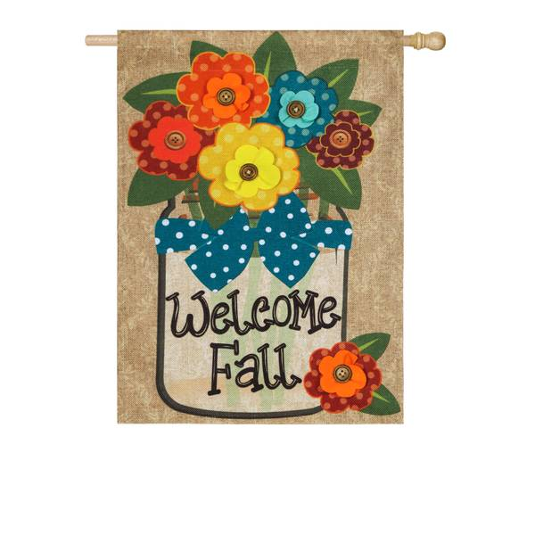 "28"" x 44"" Welcome Fall House Flag"