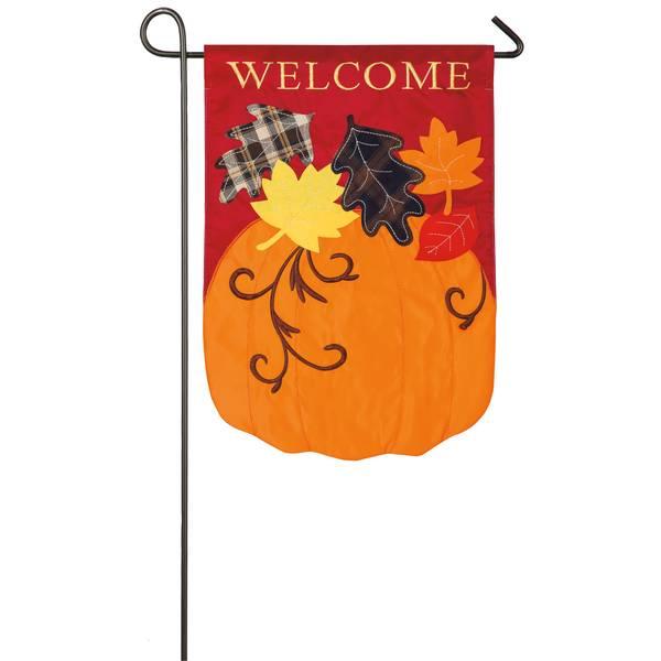 """18"""" x 12.5"""" Welcome Fall Garden Flag"""