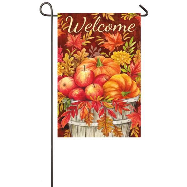"""18"""" x 12.5"""" Apples and Pumpkins Garden Flag"""