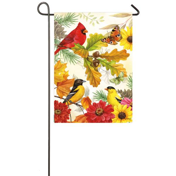 """18"""" x 12.5"""" Autumn Birds Garden Flag"""