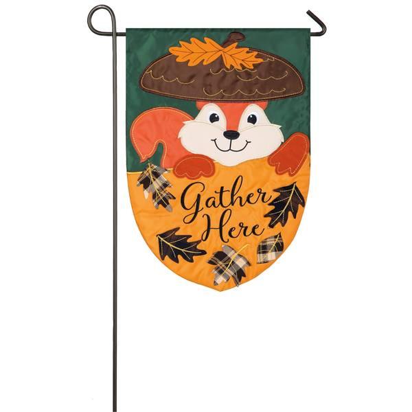 """18"""" x 12.5"""" Squirrel Garden Flag"""