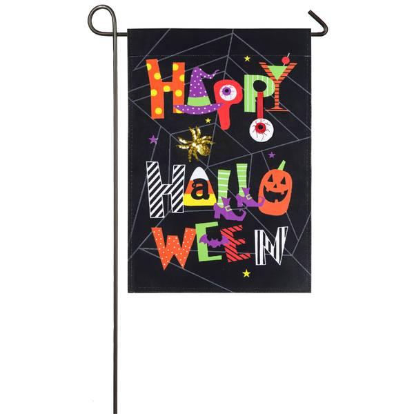 """18"""" x 12.5"""" Happy Halloween Garden Flag"""