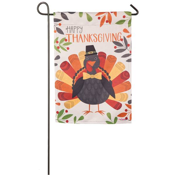 "18"" x 12.5"" Thanksgiving Turkey Garden Flag"